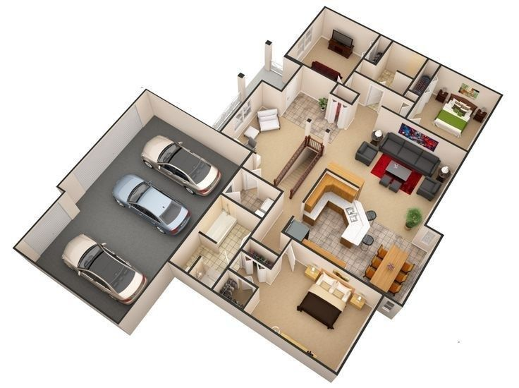 Amazing 3d Floor Plans For You Engineering Basic Floor Plans Home Design Floor Plans House Layout Plans