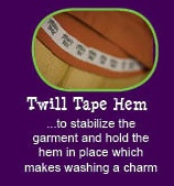 12 reasons why Peekaboo Beans is different from other kids clothing brands.  REASON #4 - Twill Tape Hem