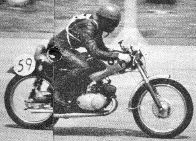 125cc:優勝の藤井敏雄(城北ライダース コレダセルツイン)