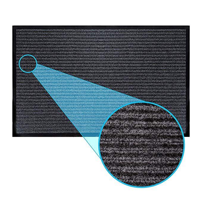 Luxurux Durable Rubber Door Mat Heavy Duty Doormat Indoor Outdoor Easy Clean Waterproof Low Profile Mats For Ent Rubber Door Mat Door Mat Indoor Door Mats