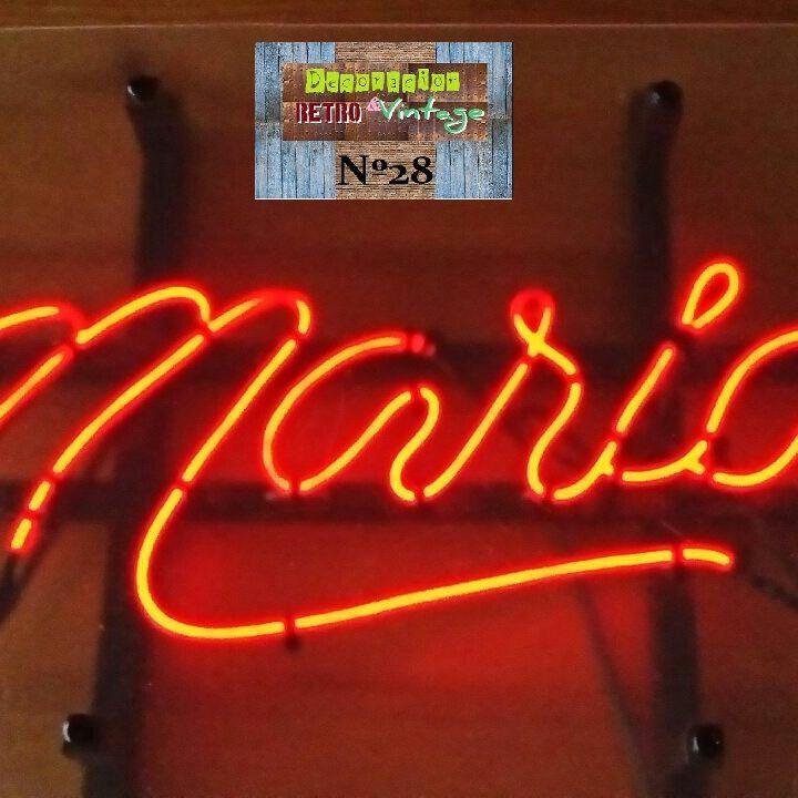 R tulos luminosos efecto ne n personalizados hecho a mano - Comprar decoracion vintage ...