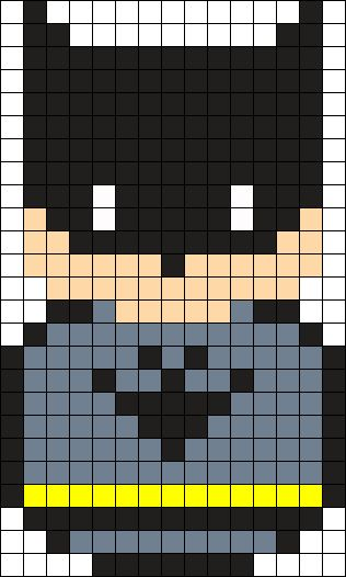 Batman Perler Bead Pattern / Bead Sprite