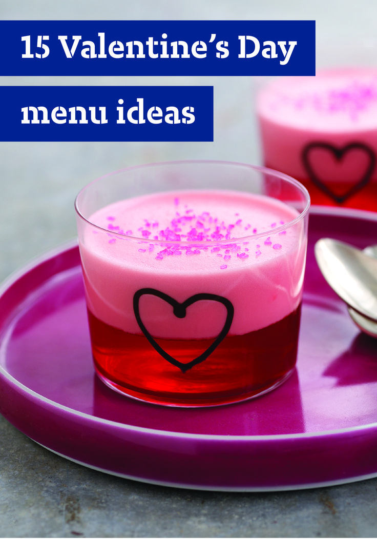 16 Valentine's Day Menu Ideas – Whether you're waking up your sweetheart with breakfast in bed, cooking a romantic dinner or winding down with dessert for two, we've got plenty of Valentine's Day recipes to last the whole holiday.