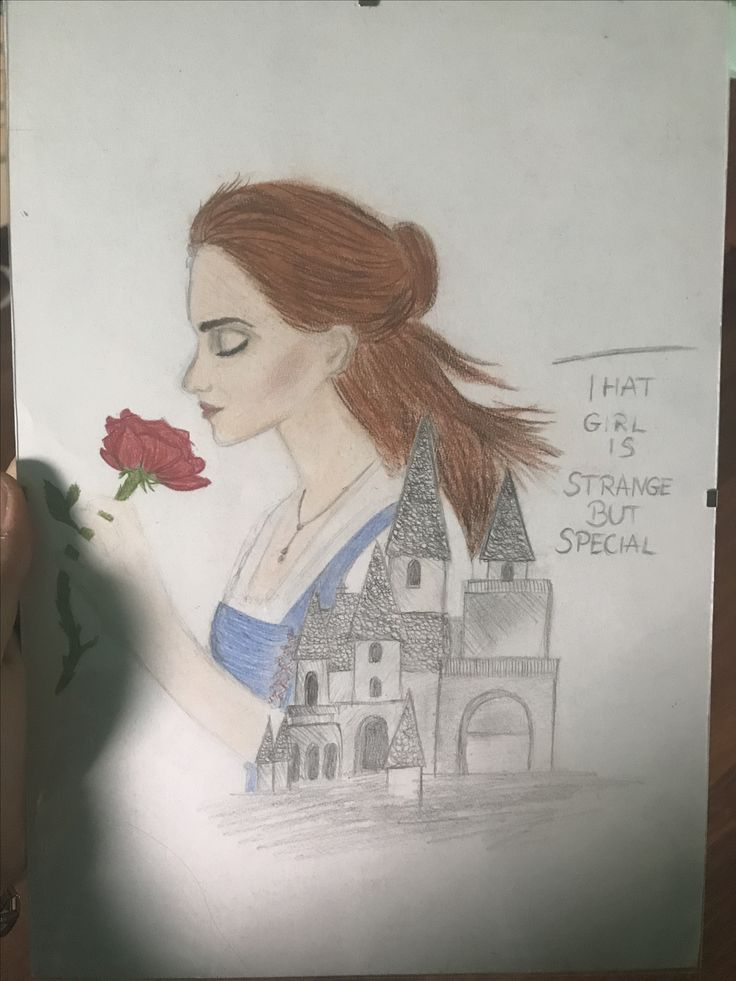 This Girl is strange but special, Belle drawing