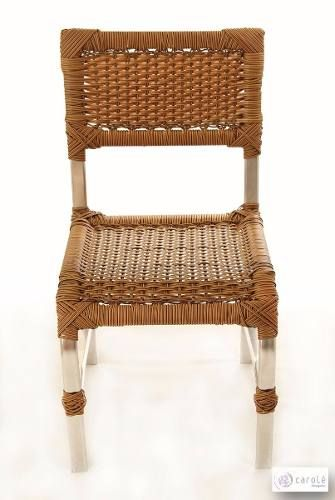 Cadeira/ Poltrona De Alumínio Em Fibra De Junco - R$ 299,00