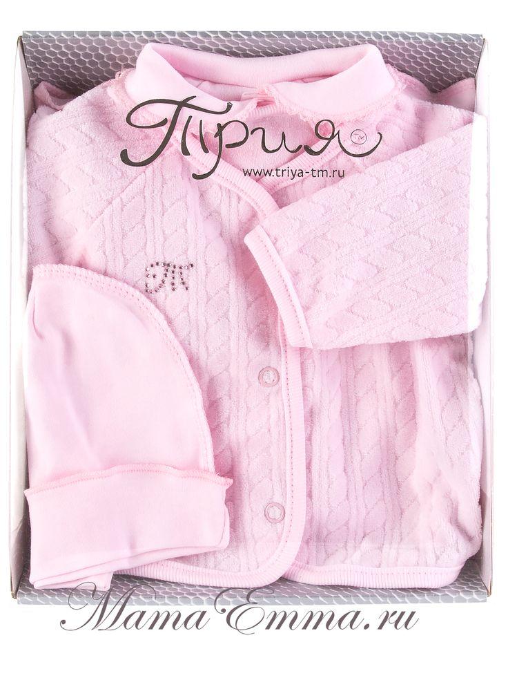 Подарочный комплект для новорожденной девочки ТриЯ 3 предмета