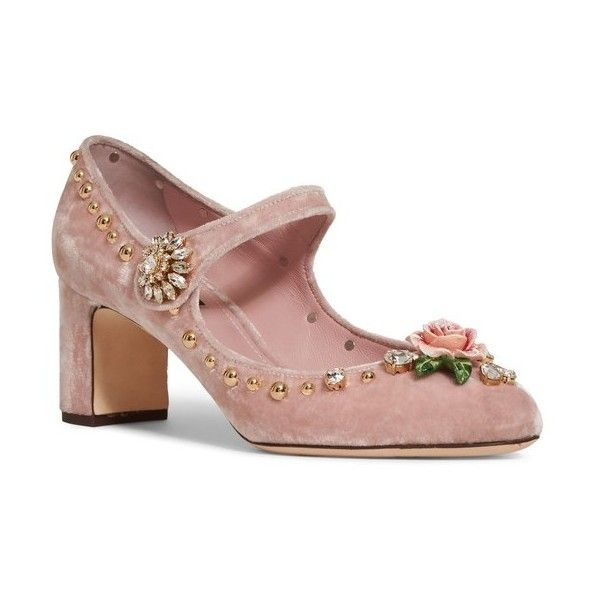4630f8abcf6 Women s Dolce gabbana Rose Mary Jane Pump (£850) ❤ liked on Polyvore  featuring shoes