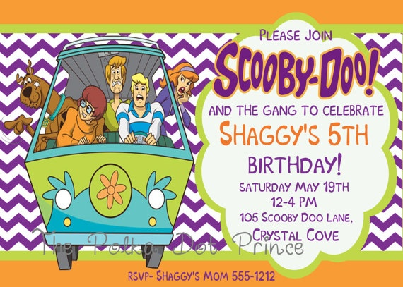 338 best scooby doo birthday party ideas images on pinterest, Birthday invitations