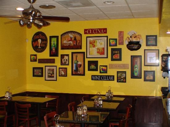 Wall decor simple and easy for a restaurant favorite