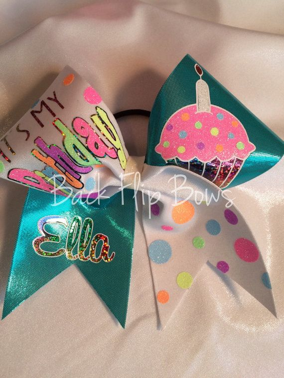 Its My Birthday cheer bow on Etsy, $20.00