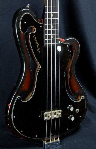 Vintage Ampeg Scroll Bass RARE aeb 1 Used | eBay