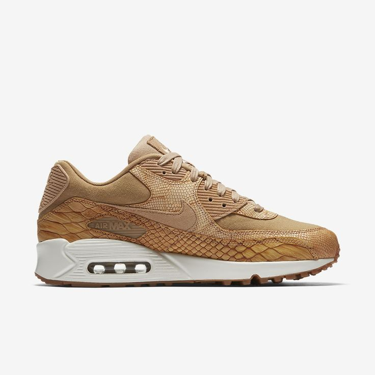 $150 Nike Air Max 90 Premium Men's Shoe  SOLD by NIKE.com  The Nike Air Max 90 Premium Men's Shoe elevates the classic design lines of the 1990 original with rich, premium leather and snakeskin detailing.Shown: Vachetta Tan/Elemental Gold/Sail/Vachetta Ta