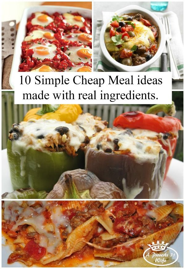 The 25 best cheap simple meals ideas on pinterest simple cheap 10 simple cheap meals that call for real food ingredients whole food cooking doesn forumfinder Choice Image