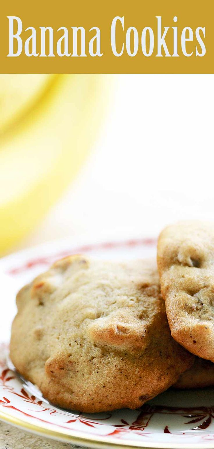 Cherished family recipe for Banana Cookies! A delicious way to use up your overripe bananas.