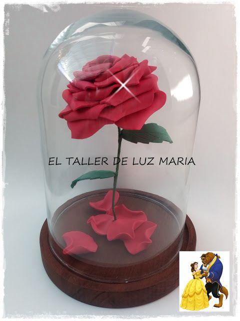 """EL TALLER DE LUZ MARIA: ROSA DE GOMA EVA """" LA BELLA Y LA BESTIA """""""