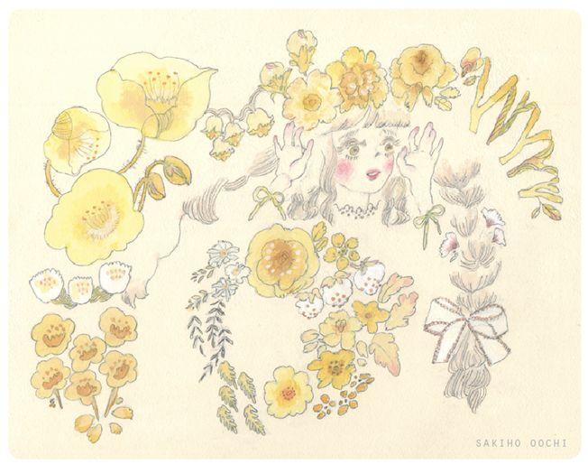 大地咲穂 sakiho oochi illustrations