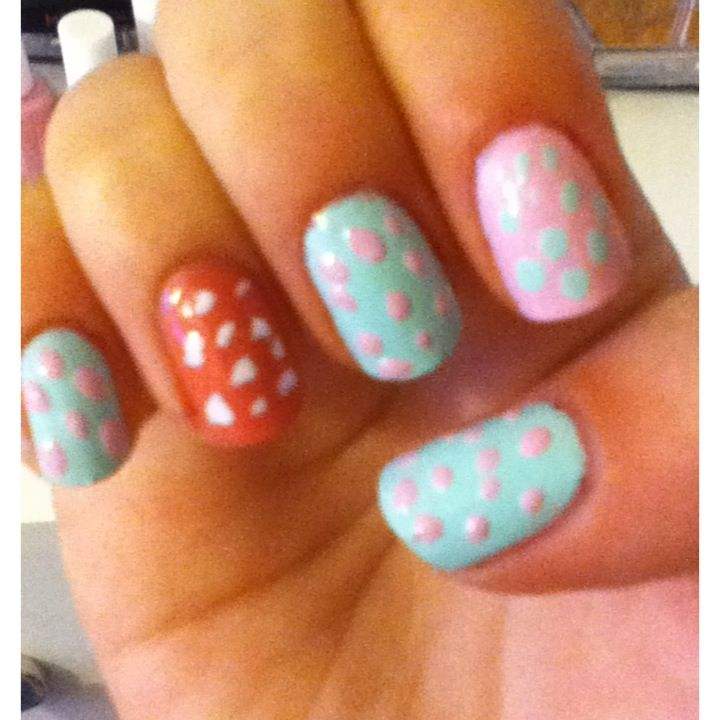 Spring spotted nails