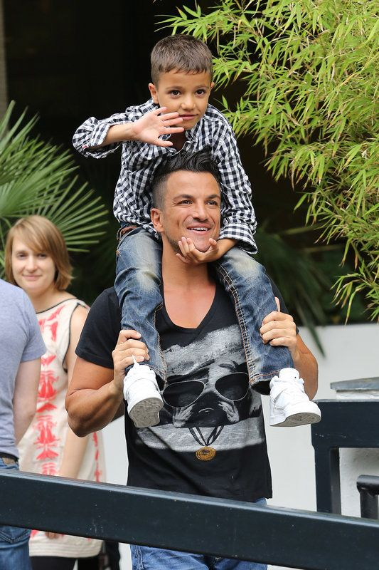 (PHOTO: Neil Mockford via Getty Images) Like Father Like Son: 9 Celebrity Kids Who Are Fast Turning Into Their Dads  Peter Andre and Junior