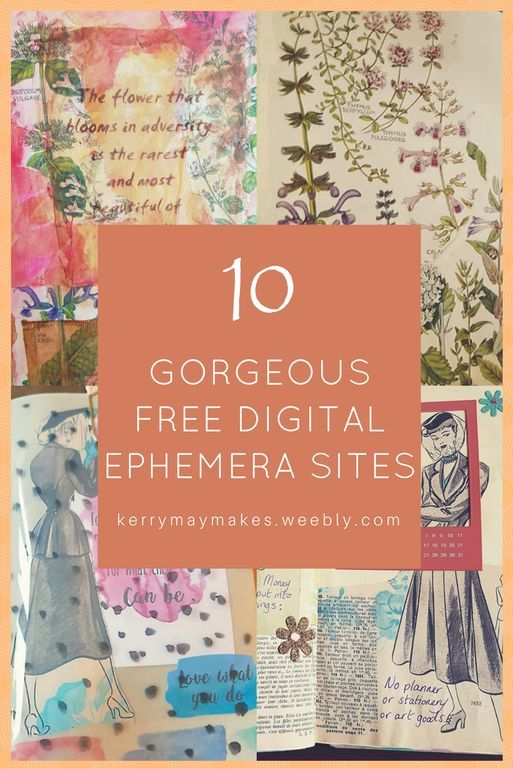 10 of the best free vintage ephemera printables/digi scraps sites. Kerrymay._.Makes