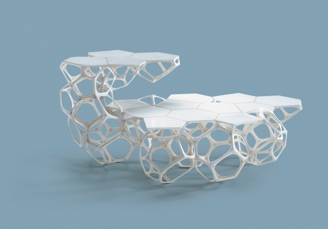 The annual Design Indaba highlights design in various aspects. This specific design modular coffee table by the acclaimed Haldane Martin.