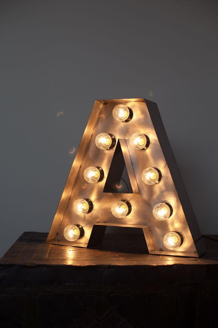 металлические буквы с подсветкой / Metal letter with lights  https://www.facebook.com/allaboutloft