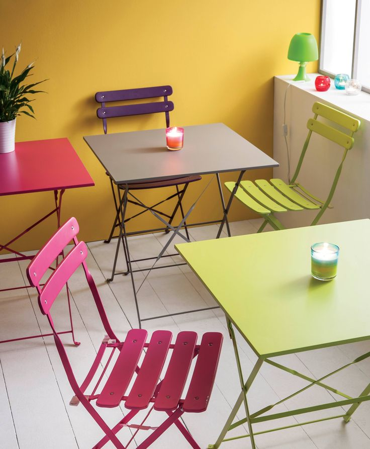 Table pliante en fer - Chaise bistrot acier