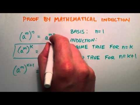 Proof by Mathematical Induction - Example Proving Exponent Rule