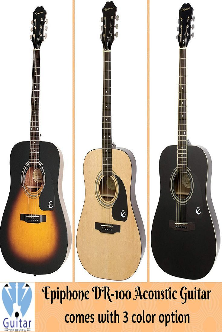 Epiphone Dr 100 Acoustic Guitar Review Guitar Guitar Reviews Bass Guitar Tabs