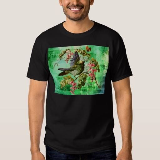 (BIRD AND BUTTERFLY T-Shirt) #Bird #Blossoms #Blue #Branch #Butterfly #Flowers #Green #Nature #Outdoors #Pink #Tress #Vintage #Yellow is available on Funny T-shirts Clothing Store   http://ift.tt/2dHXqil