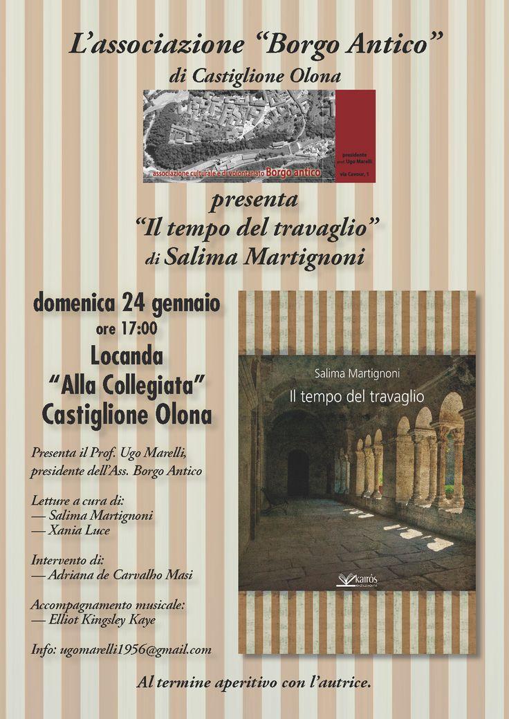 """Domenica 24.1.2016 - Presentazione del libro """"Il tempo del travaglio"""" di Salima Martignoni"""