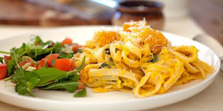 Pumpkin and Pine Nut Fettucine - a Julie Goodwin recipe