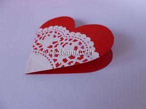Szívecskés képeslap tortacsipkével
