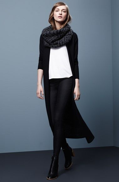 Eileen Fisher Long Wool Jersey Cardigan (Regular & Petite) | Nordstrom