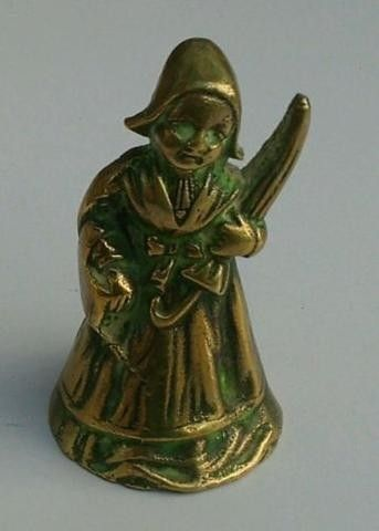 BRASS HAND BELL Lady with Umbrella (08/18/2014)