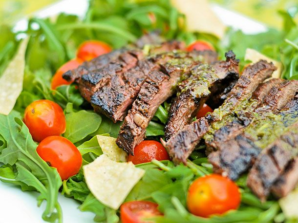 Salad - Skirt Steak Salad with Cilantro-Lime Dressing