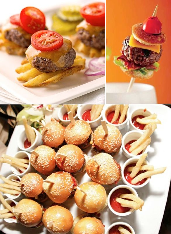 Mini burger ideas.
