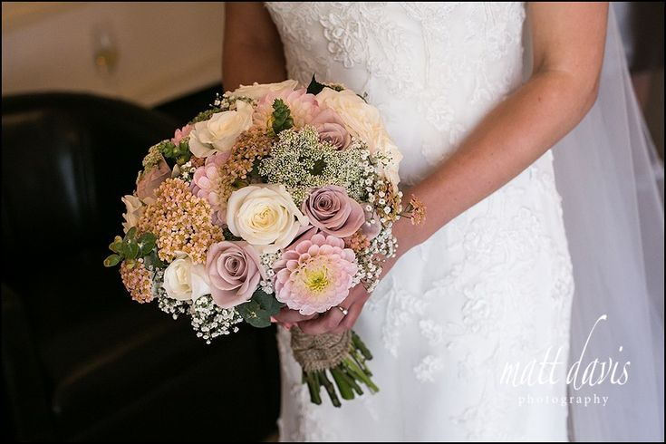 Mixed flower wedding bouquet photographed by Matt Davis Photography created by Sorori Design.