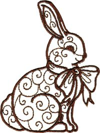 Free Easter embroidery design from Designs in Machine Embroidery