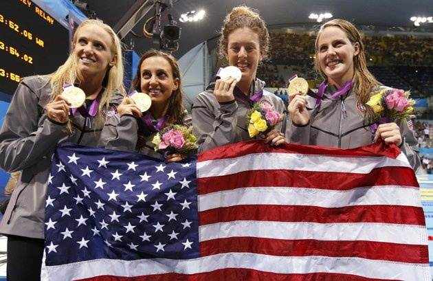 Women's swimming medley relay team