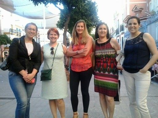 Day 30 MMM 14 My me made dress and my sewists friends in Sevilla. ¡Que guapas sois todas!