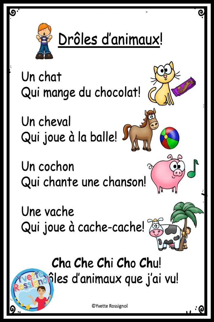 Comptine Et Activites Pour Le Son Ch I French Phonics Activities