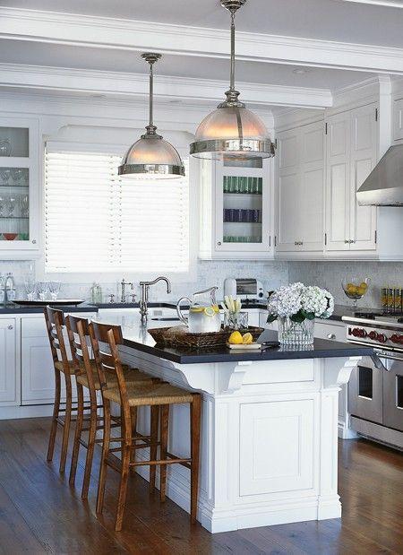 Light & Fresh Boathouse Kitchen    A white kitchen with timeless style.