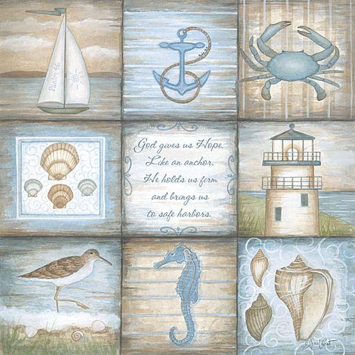 ♥♥♥#Illustration #Ilustración #Sea #mar #marino #océano #náutico #Ocean #Nautic #Art #Beach #Playa #SeaLife #SeaPrint #Coastal #Coast #WhiteSand #Seaside #Aqua #Summer #Shore #SaltyAir
