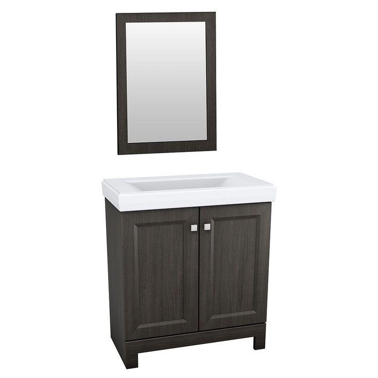 Glacier bay shaila 24 1 2 in vanity in silverleaf with cultured marble vanity top in white and - Cultured marble bathroom vanity tops ...