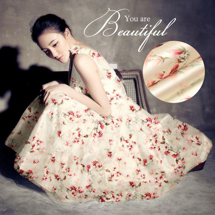 So017 100% натуральный шелк / цветение персика весна / печатается / анти уф / шелковой ткани шелковицы шелковой органзы / ширина 1.48yd толщина 14 мм купить на AliExpress