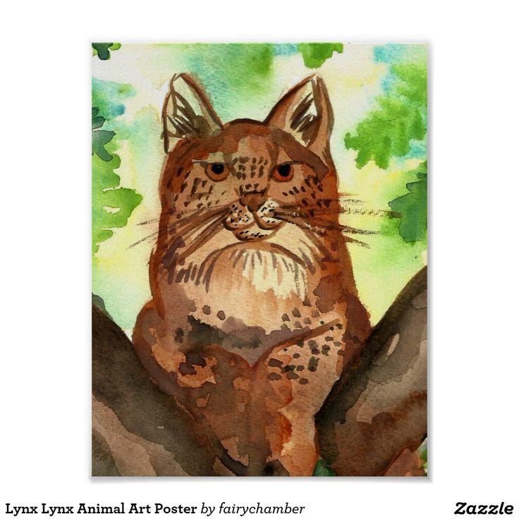 Lynx Lynx Animal Art Poster
