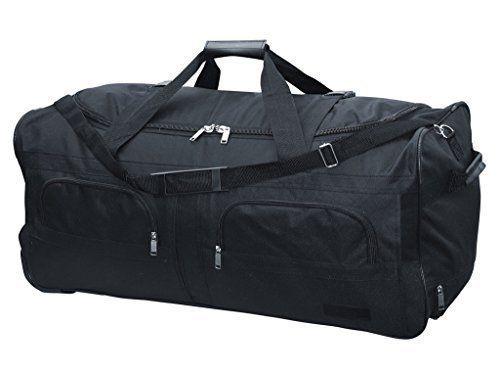 McAllister Travel System Sac de voyage avec Rolen Chariot Sac de sport Sac de voyage Noir 60L 80L 100L ou 140L – 140 v: McAllister…