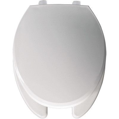 Bemis Commercial Open Front Solid Plastic Elongated Toilet Seat Hinge Type: Check Hinge