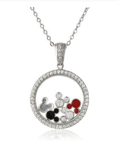 Mickey Mouse Cubic Zirconia Necklace #want