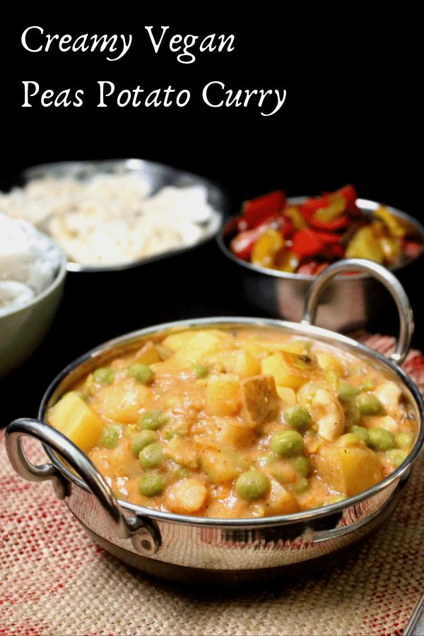 Creamy Vegan Peas Potato Curry